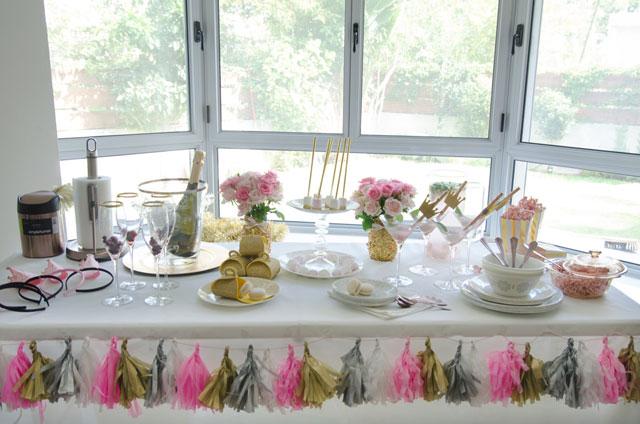 מסיבת חברות בגוון Rose gold