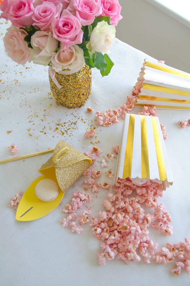 מסיבת חברות מעוצבת בגוון Rose gold