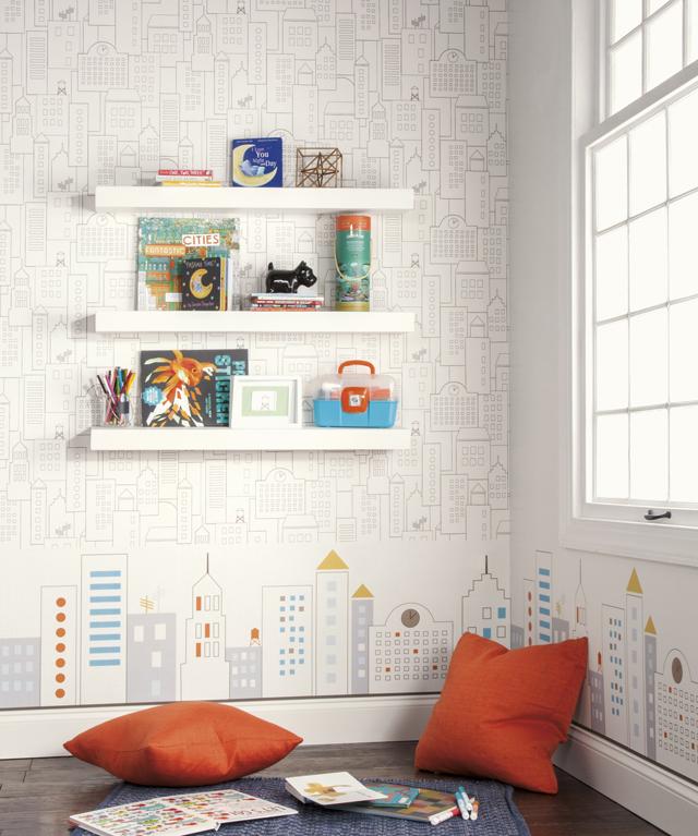 """קירות מדברים ויוצרים שפה ויזואלית, טפטים של גולדשטיין גלרי, צילום: יח""""צ"""