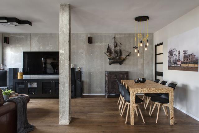 משפחה חובבת עיצוב מודרני עם נגיעות מסורתיות, בדגש על שולחן אוכל מעץ ממוחזר בעל אופי, עיצוב: שלומית זלדמן, צילום:עודד סמדר