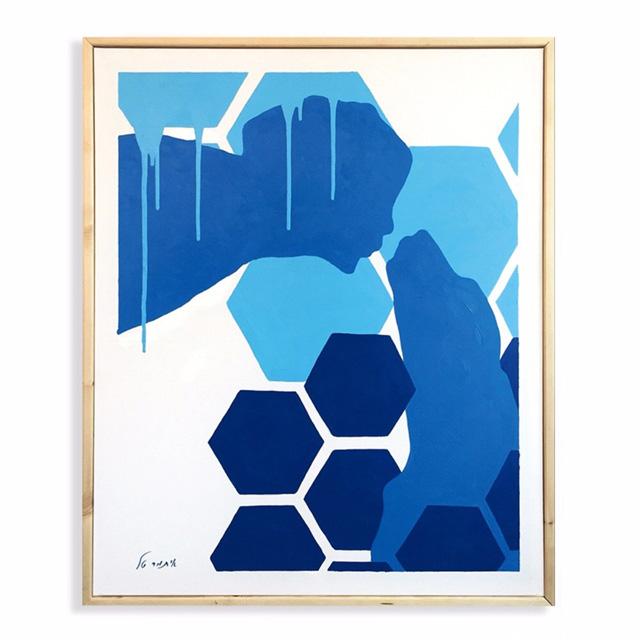 עיצוב בכחול ולבן