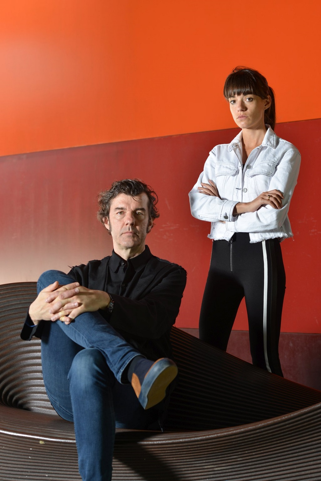 ג'סיקה וולש וסטפן זגמייסטר היום, במוזיאון העיצוב חולון, צילום: שי בן אפרים