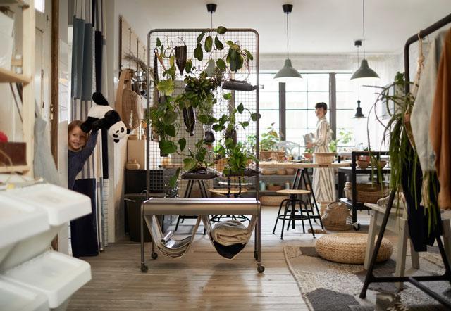 ירוק רענן וטרי גם בדירה אורבנית קטנה, איקאה 2019
