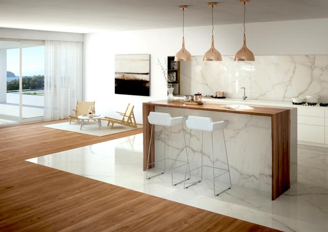 """בעזרת הלוחות הדקים בעובי 6.5 מ""""מ בלבד אפשר לחפות רצפה וקירות בחדרי רחצה ובמטבחים, חלמיש"""