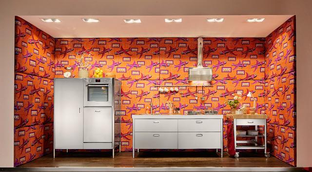 טפט בצבע השנה מקפיץ את הנירוסטה, ניגא שף FO -HOME, צילום: אלפס אינוקס