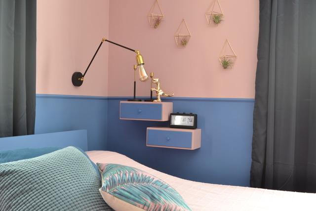 עיצוב מקורי ויצירתי של הילה ברונשטיין, חדר שינה לא שגרתי, צילום: הילה ברונשטיין