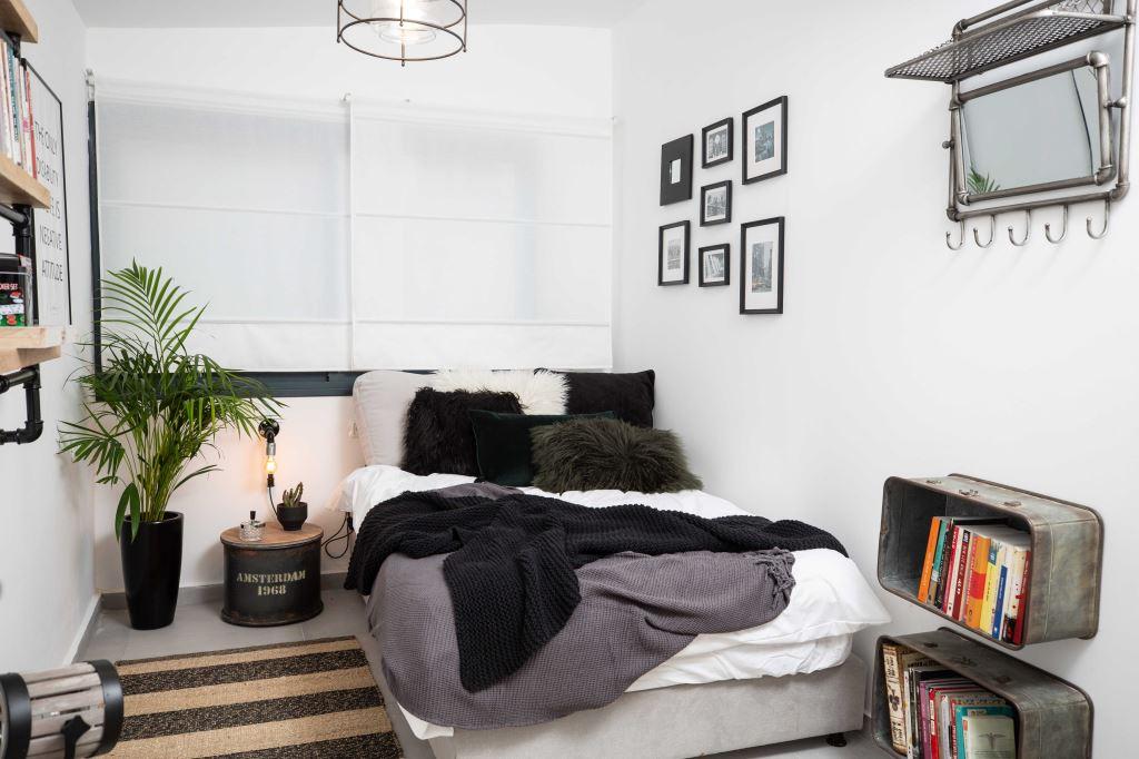 חדר מעוצב במסגרת הפרויקט חדר משלהם של סקולה ובהובלת מירי בלבול, צילום יניב שמידט