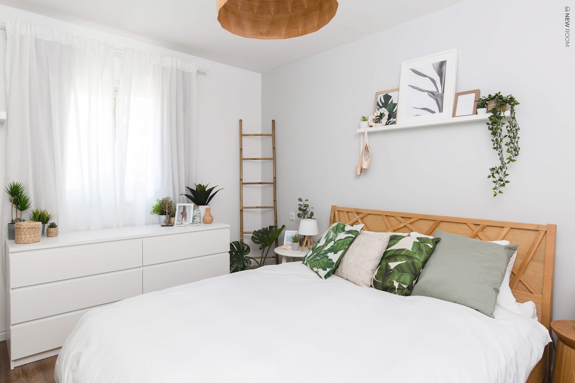 עיצוב חדר שינה - פרויקט של המעצבות נטעלי וטל, צילום: דנה סטמפלר