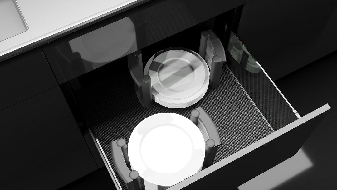 מגירות ויז'ן במראה דקיק ואלגנטי וכן נוחות שימוש, צילום דומיסיל