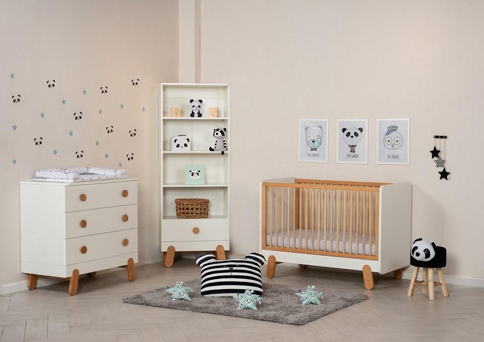 חדר תינוק דגם איגה מקולקציית בייבי. להשיג ברשת עצמל'ה רהיטי ילדים ונוער. צילום שחר פליישמן (1)