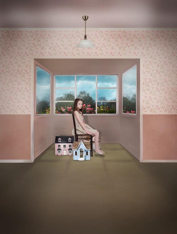 Back Yard, Bay Window, Digital Photomontage, לירון קרול