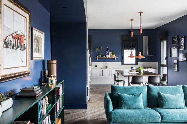 כחול בעל השפעה חיובית עם הגוף ועל הנפש, תכנון ועיצוב איילה צייחר, צילום איתי בנית