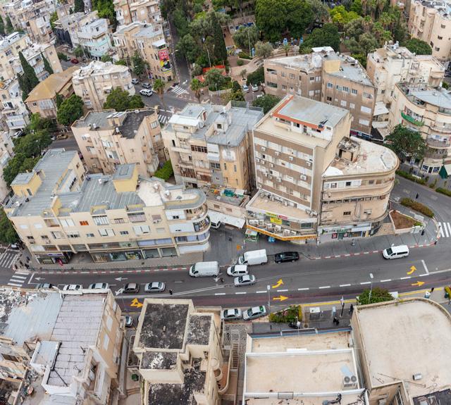 שכונת הדר בחיפה, בתי באוהאוס, צילום: אורית סימן טוב