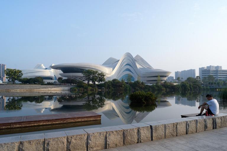 Changsha Meixihu International Culture and Art Centre, Photo by Virgile Simon Bertrand
