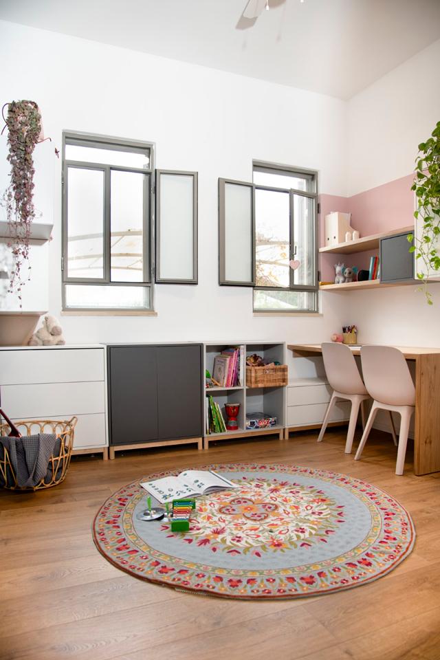 חדר המשחקים החמים של הבנות, עיצוב פנים מיה אפל, צילום: אורה כהן
