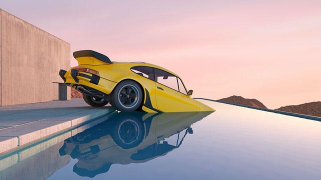 מכונית בבריכה?