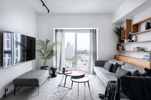 הסלון והנוף האורבני, עיצוב שירי שלום, צלם: אורן עמוס