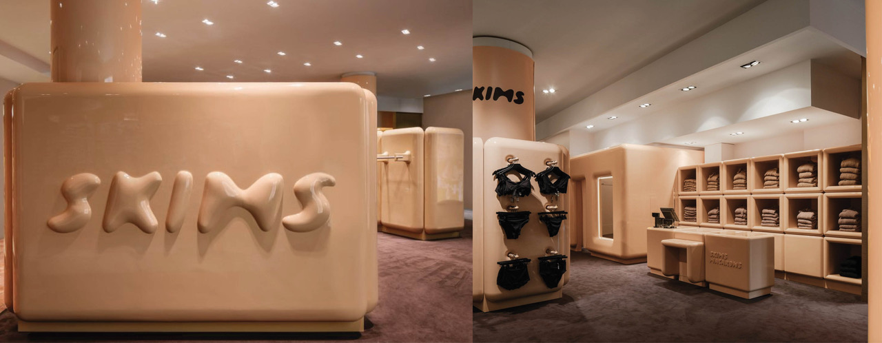 The SKIMS Paris pop-up store by Willo Perron